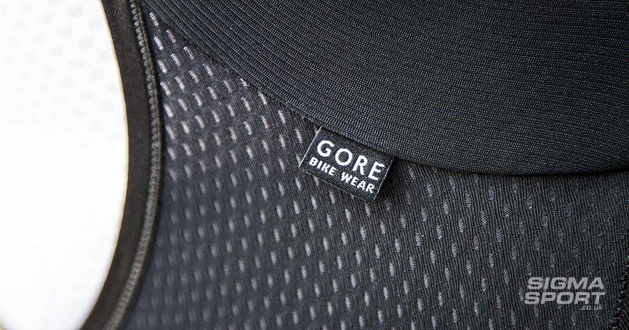 Gore Power bib short mesh detail