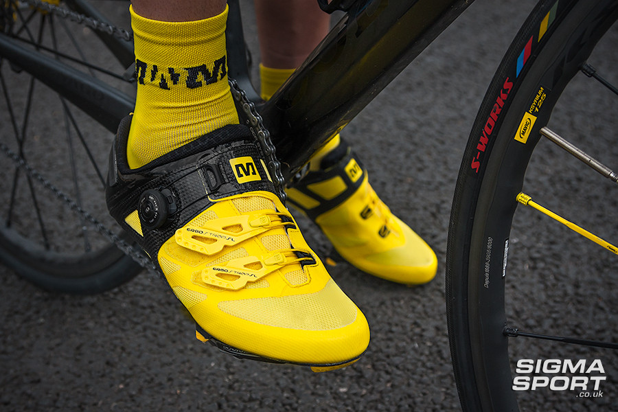 Mavic Cosmic Ultimate Shoe Review Side on Bike