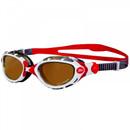 Zoggs Predator Flex Polarized Ultra Goggles White/Silver/Red