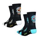 DeFeet Aireator Tall Sugar Skull Socks