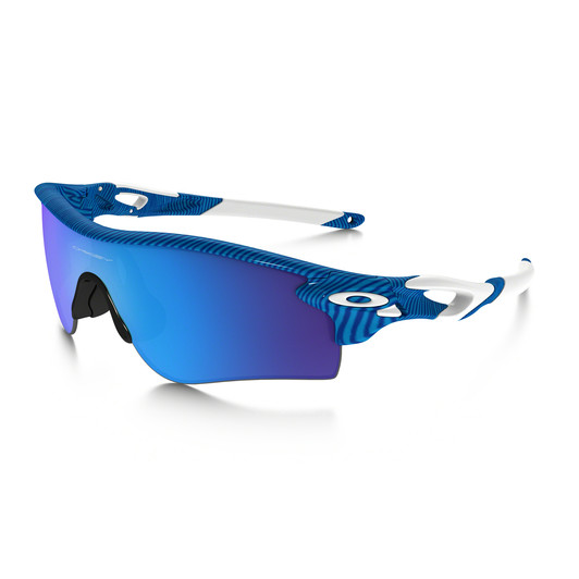 Oakley Radarlock Blue Fingerprint Sunglasses Sapphire Iridium Lens