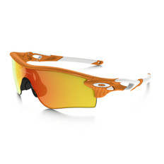 Oakley Radarlock Atomic Orange Fingerprint Sunglasses Iridium Lens
