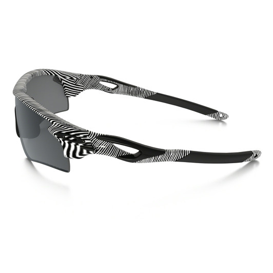 Oakley Radarlock White Fingerprint Sunglasses Black Iridium Lens