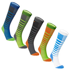 2XU Striped Run Compression Socks