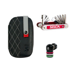Silca EOLO Wallet Kit with Tredici Multi-Tool and EOLO Regulator