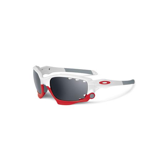 Oakley Racing Jacket Sunglasses Polished White Frame