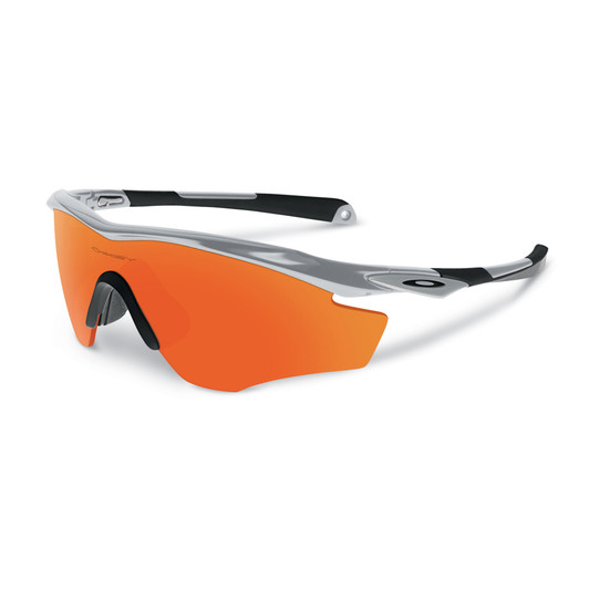 Oakley M2 Frame Glasses, Silver With Fire Iridium Lens