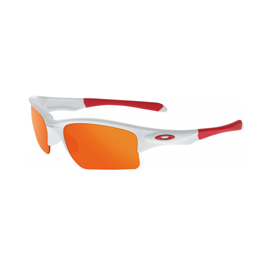 Oakley Quarter Jacket Polished White With Fire Iridium Lens