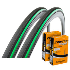 Vittoria Open Pave CG 25mm Clincher Tyres with Continental Inner Tubes