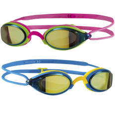 Zoggs Fusion Air Gold Mirror Lens Goggles