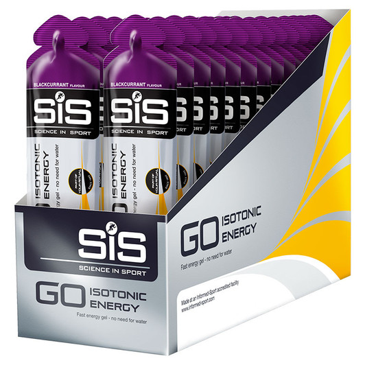 Science In Sport GO Isotonic Gel Box Of 30 X 60ml Blackcurrant