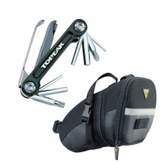 Topeak Aero Wedge Small Saddle Bag with Mini 9 Pro Multi Tool