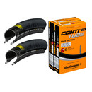 Continental GP4000S II 23mm Tyres With Race 28 Inner Tubes