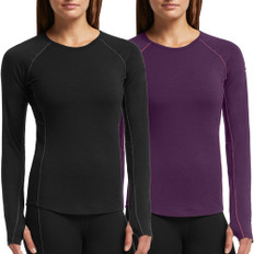 Icebreaker Zone Crewe Neck Long Sleeve Womens Base Layer