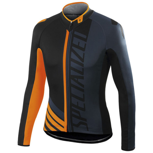 8663f497d87 ... Specialized Element Pro Racing Long Sleeve Jersey Black Anthracite  Orange ...