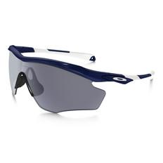 Oakley M2 XL Grey Sunglasses Polished Navy Frame