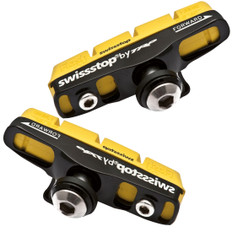 SwissStop FlashPro Shoes/Pads Yellow King (Carbon Rims) Shimano